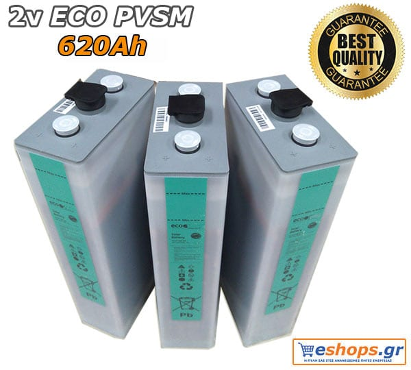 2V Μπαταρία Βαθιάς Εκφόρτισης ECOPVSM 620, Aνοικτού τύπου