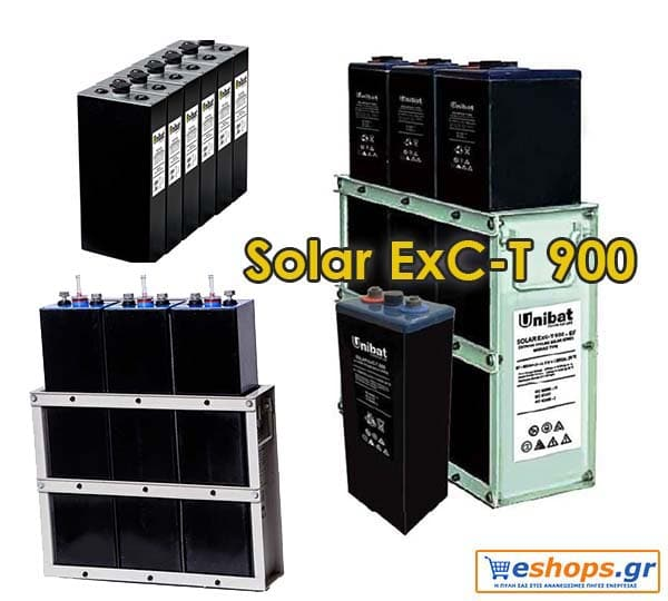 Μπαταρία Unibat 2V Solar Solar ExC-T 900 (904Ah c120)